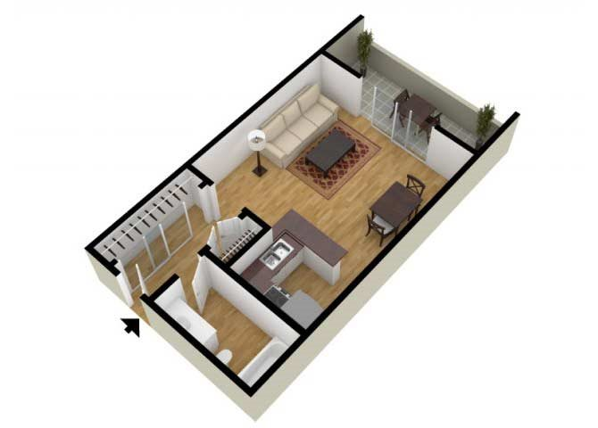 The Studio C floor plan.