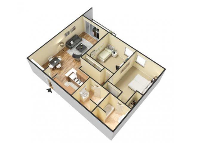 The Two Bedroom C floor plan.