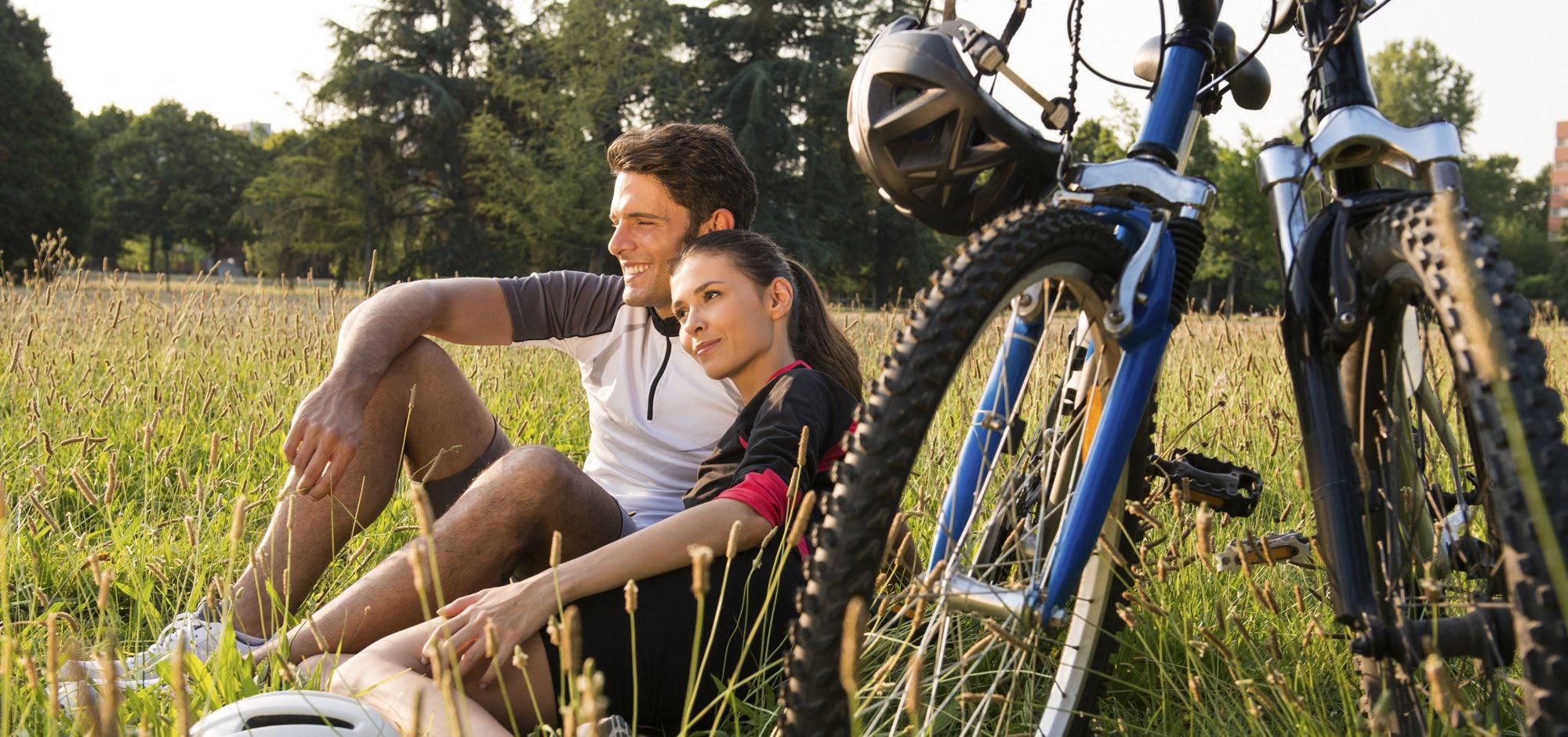 Stock image- biking