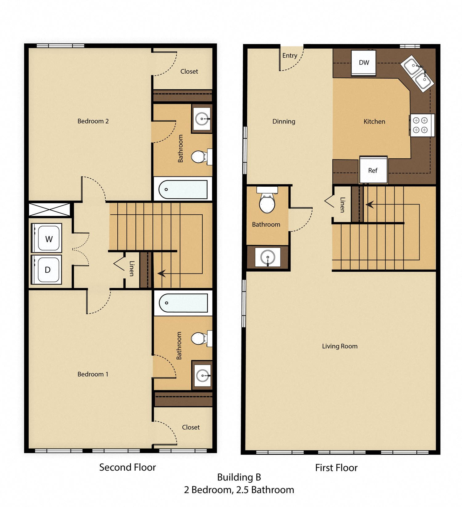 Floor Plans of SHA7 Apartments in Spartanburg, SC