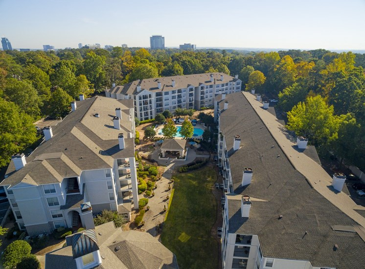 Aerial View at The Stratford Apartments in Sandy Springs, GA