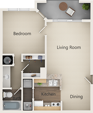 A1 Classic Floor Plan 1