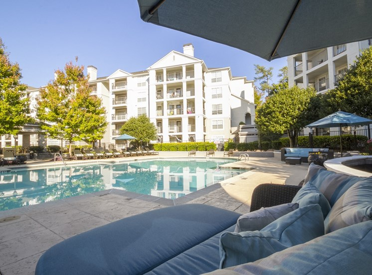 Poolside at The Stratford Apartments in Sandy Springs, GA