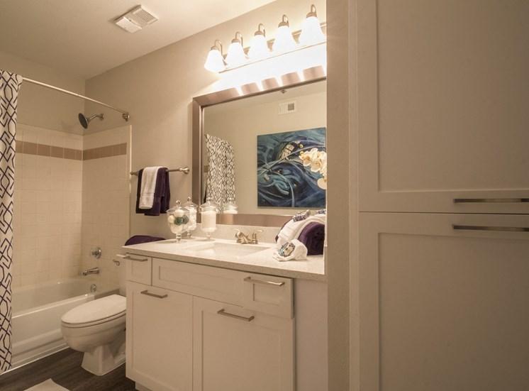 Bathroom at The Stratford Apartments in Sandy Springs, GA