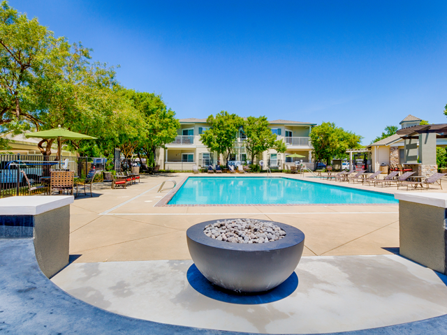 Sparkling Swimming Pool at Harvest Park Apartments, 2327 Summercreek Dr