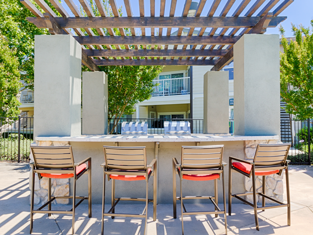Outdoor Cabanas at Harvest Park Apartments, Santa Rosa, California