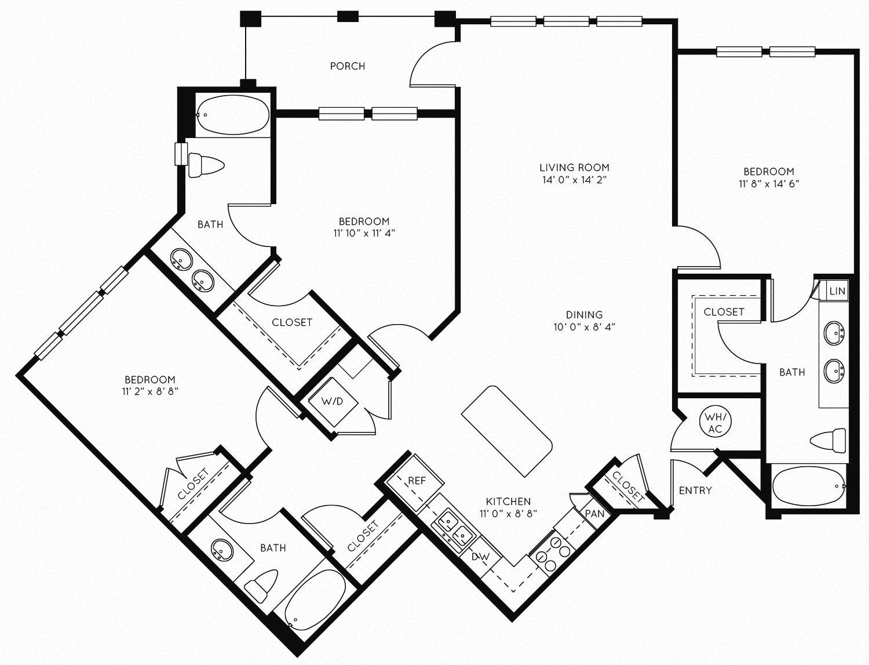 3B Floor Plan 12