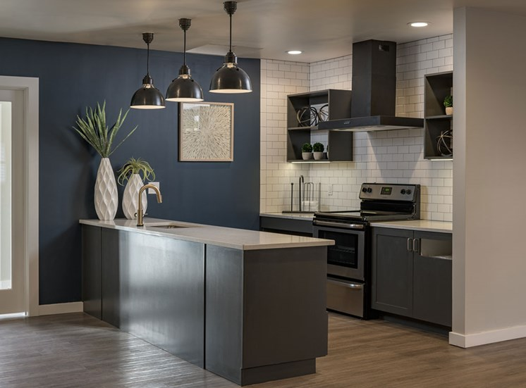 Clubhouse With Catering Kitchen at Edgewater Apartments, Idaho