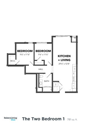 The Two Bedroom 1