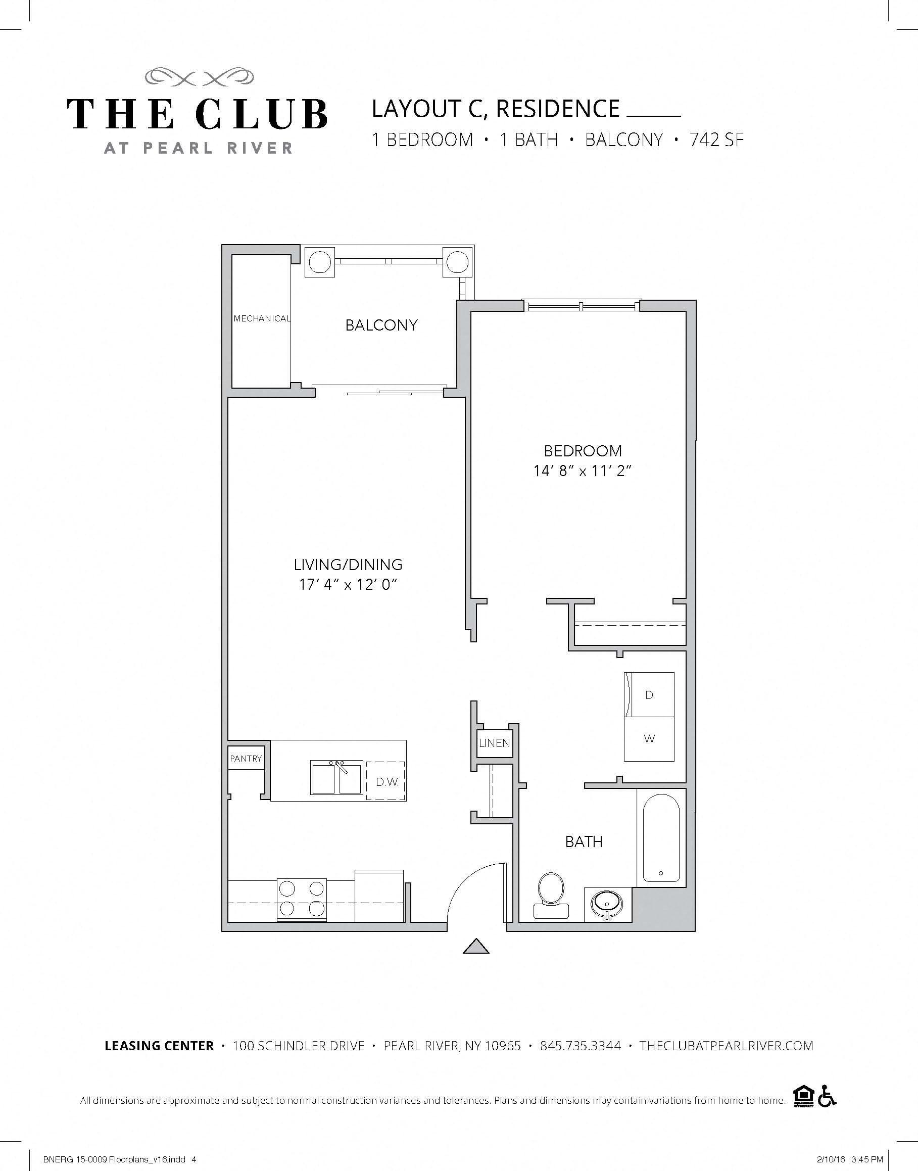 Layout C Floor Plan 1
