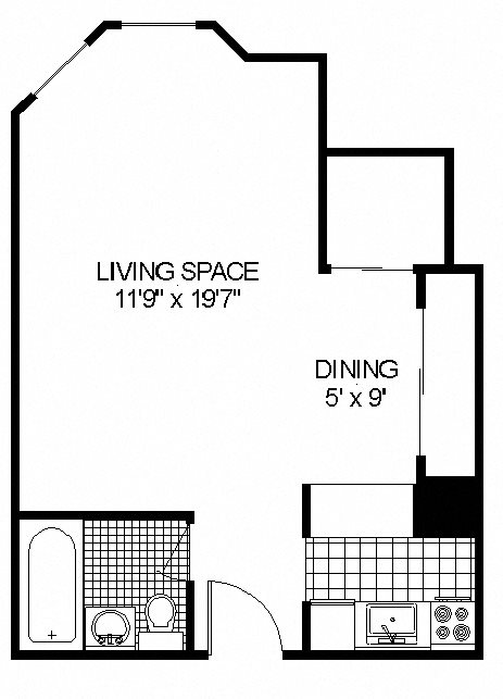 '06 Floor Plan at 14 West Elm Apartments, Chicago,Illinois