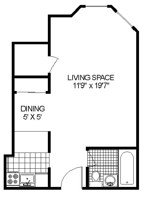 Floor Plan at 14 West Elm Apartments, Chicago