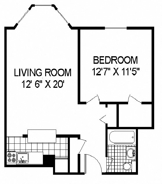 Floor Plan at 14 West Elm Apartments, Chicago,Illinois
