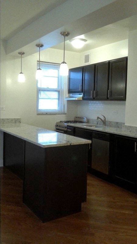 Remodeled Kitchen at 14 West Elm Apartments, Chicago,Illinois