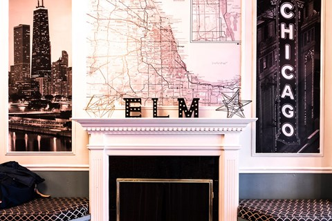 14 West Elm Lobby at 14 West Elm Apartments, Chicago, 60610