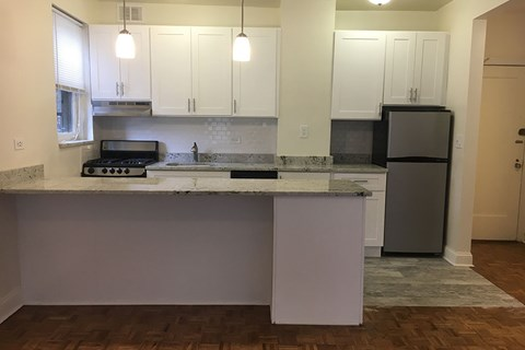 New Counter Tops and Cabinets at 14 West Elm Apartments, Chicago, IL 60610