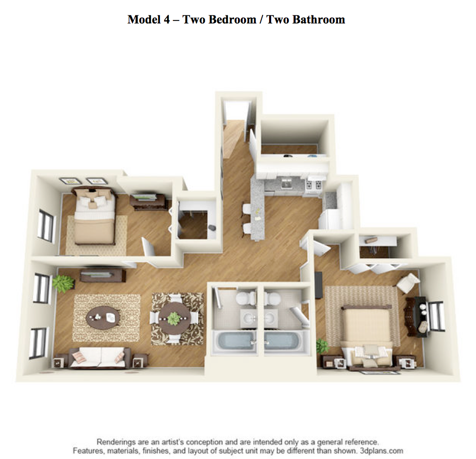 The Elm - 2 Bedroom, 2 Bath - Model 4 at 14 West Elm Apartments, Chicago, IL 60610