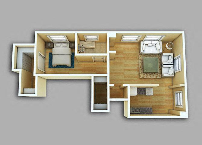1 Bedroom - Model 05