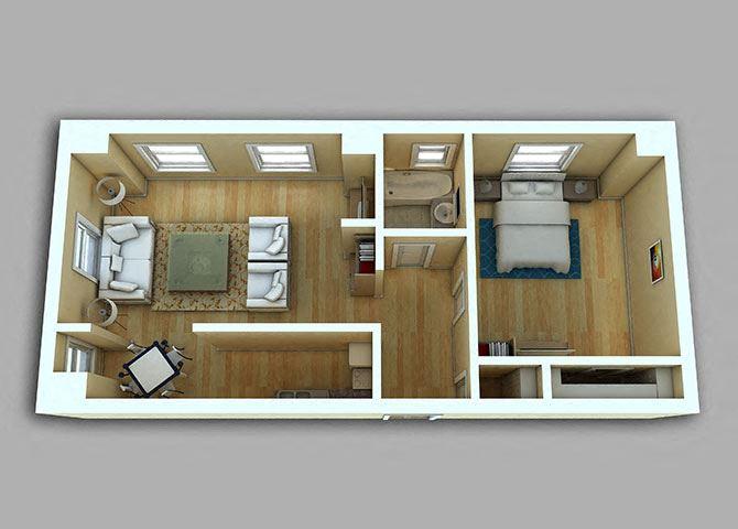 1 Bedroom - Model 18