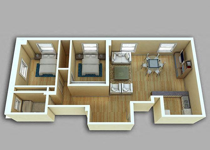 2 Bedroom - Model 27