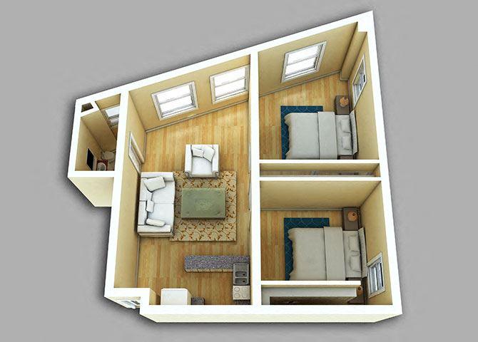 2 Bedroom - Model 01