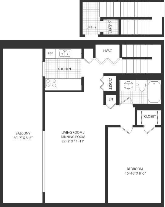 1 Bedroom Elite Floor Plan 4