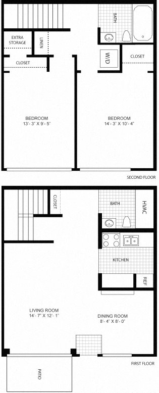 2 Bedroom Townhouse Floor Plan 8