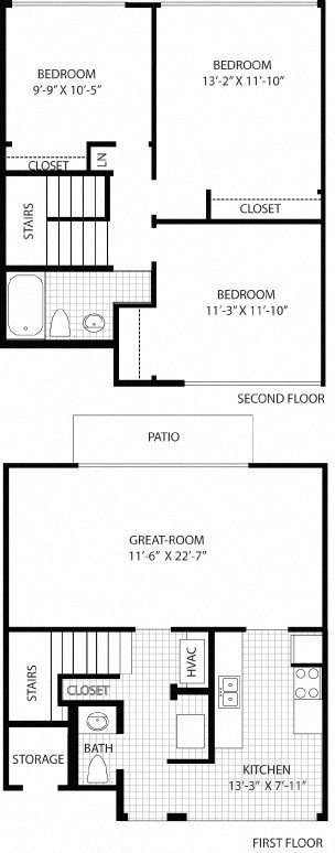 3 Bedroom Townhouse Floor Plan 9