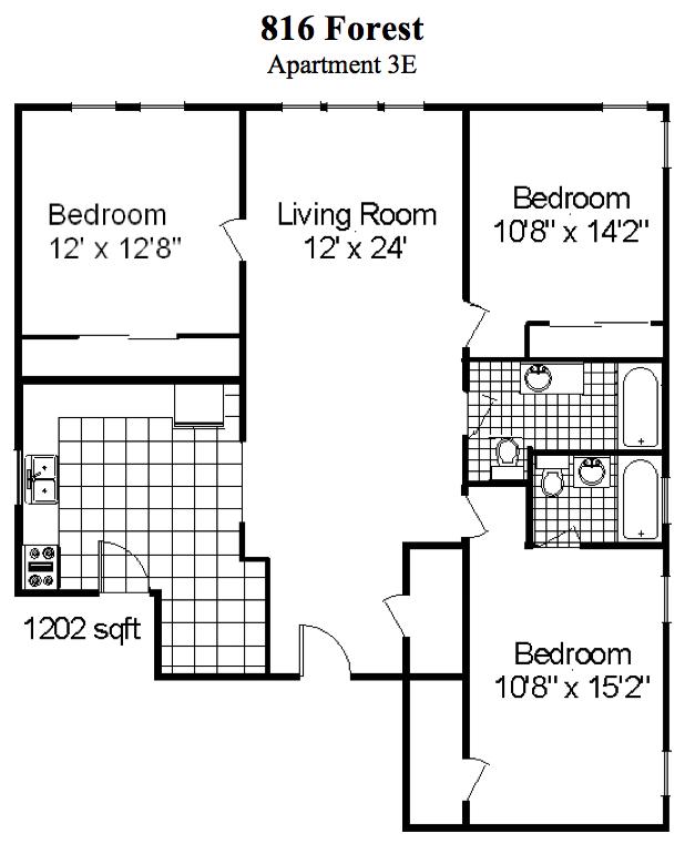 3 Bedroom, 2 Bath