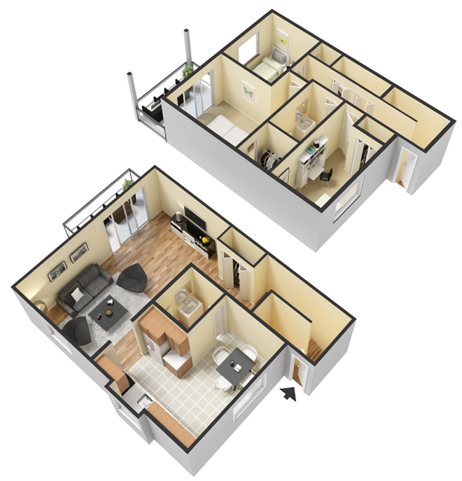 The Stratford Lodge Townhome Floor Plan 10