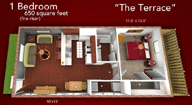 The Terrace Floor Plan 3