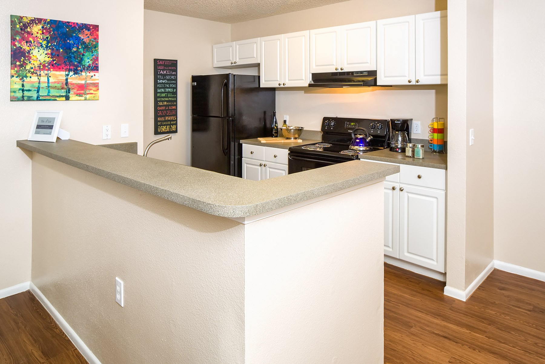 Kitchen at Sawgrass Cove Apartments in Bradenton, FL