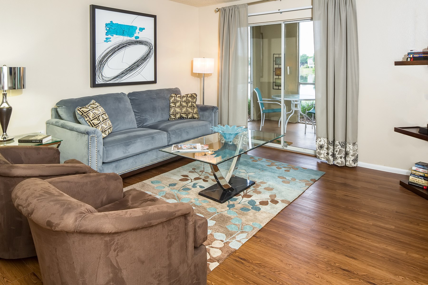 Living Room at Sawgrass Cove Apartments in Bradenton, FL