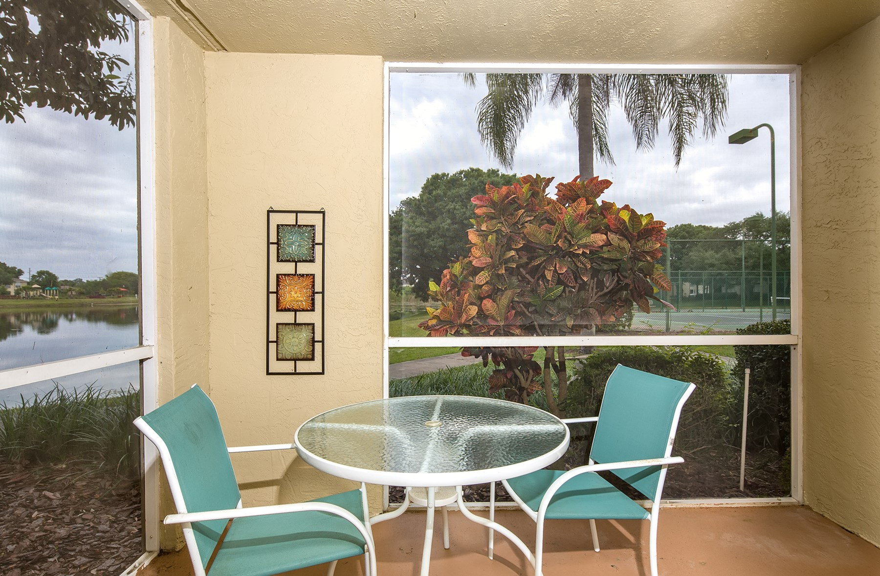 Patio at Sawgrass Cove Apartments in Bradenton, FL