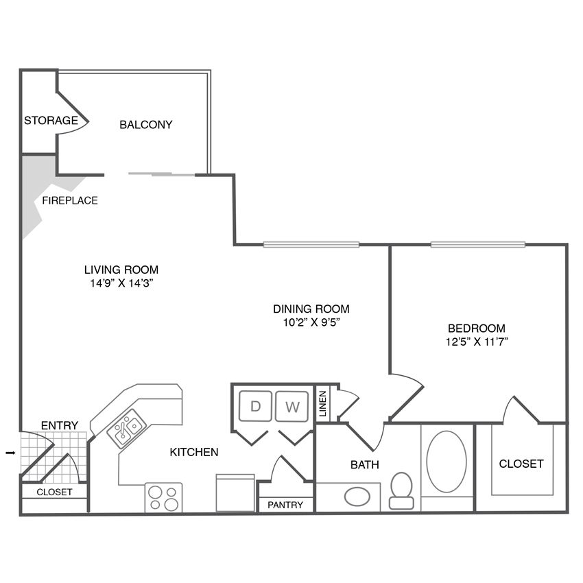 A2 - 1Bedroom 1Bath