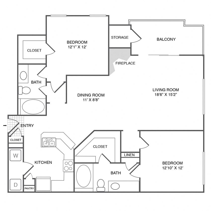 B3 - 2Bedroom 2Bath