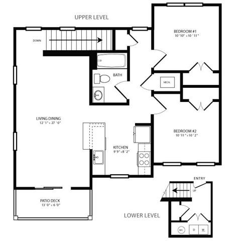 PGII- 2br 1ba Flat B Floor Plan 5