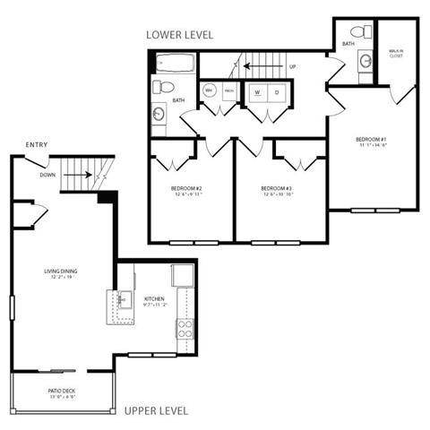 PGII- 3br 1.5ba Townhouse B Floor Plan 7