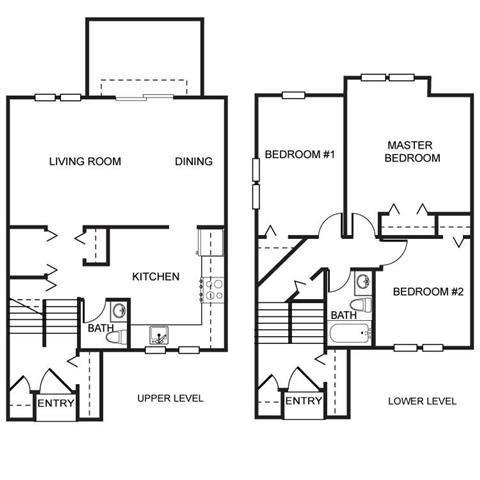 PG I-Spacious 3br 1.5ba Townhouse A Floor Plan 3
