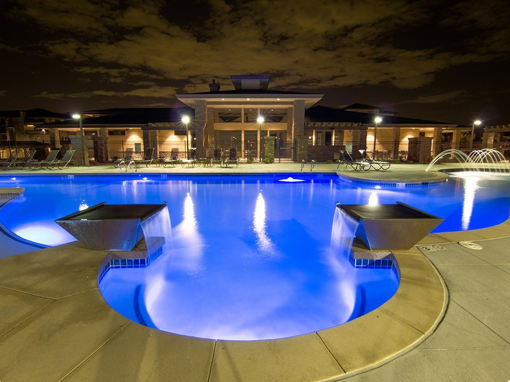 Arbour Commons Swimming Pool at Night