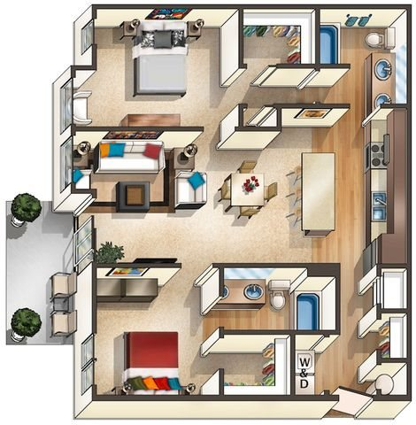 Floor Plan at Arbour Commons, Colorado, 80023