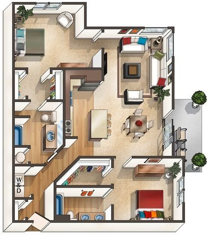 Floor Plan at Arbour Commons, Westminster, CO 80023