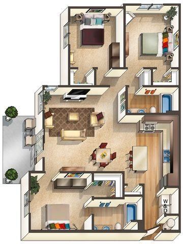 Floor Plan at Arbour Commons, Westminster,Colorado