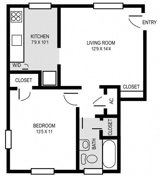 The Chestnut Floor Plan 1
