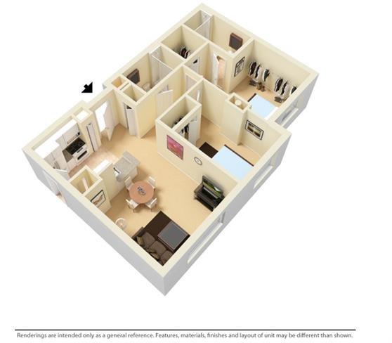 Santa Clara Apartments Miami, FL Floor Plan