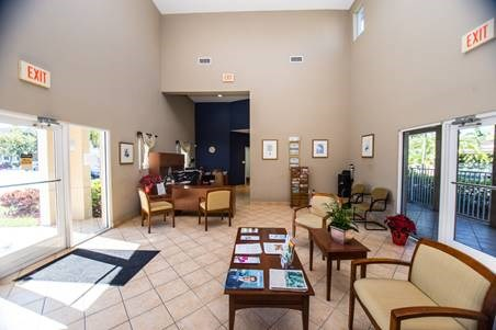 wide angle of leasing office interior_Westview Gardens Apartments Miami, Florida