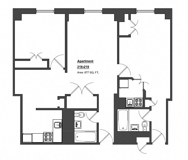 2 Bedroom 2 Bathroom Floor Plan 7