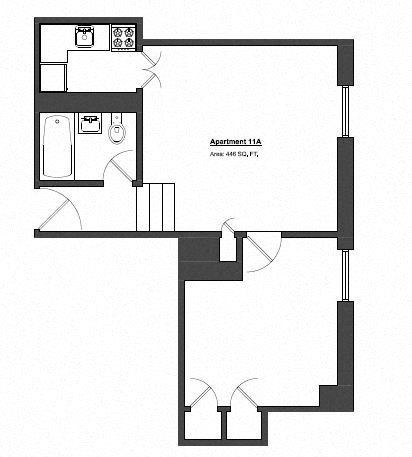 Penthouse 1 Bed - Small Floor Plan 9