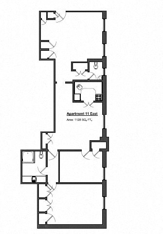 Penthouse 2 Bed - Medium Floor Plan 11