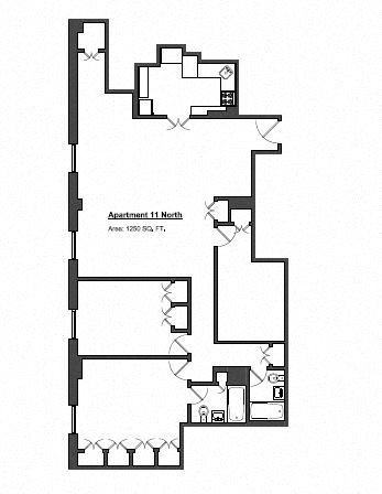 Penthouse 3 Bed Floor Plan 13